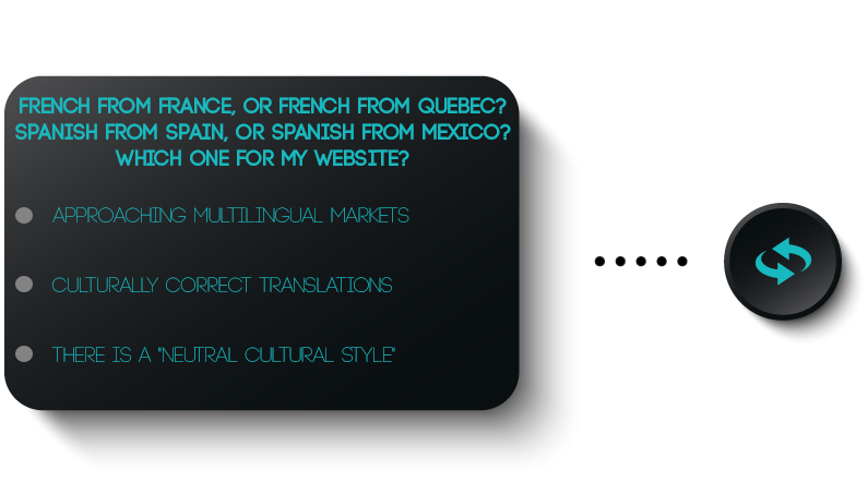 French from France, or French from Quebec? Spanish from Spain, or Spanish from Mexico? Which one for my website?